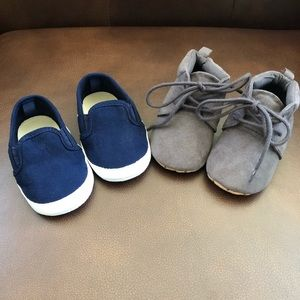 Two pairs of old navy baby shoes